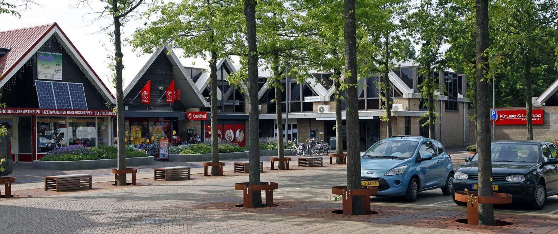 rij boomroosters Hazerswoude, corten roestkleurig staal, ontwerp door ipv Delft