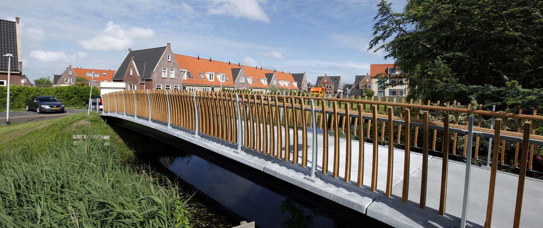 UHSB brug Volmolen op Texel, brugontwerp door ipv Delft, standaardbrug