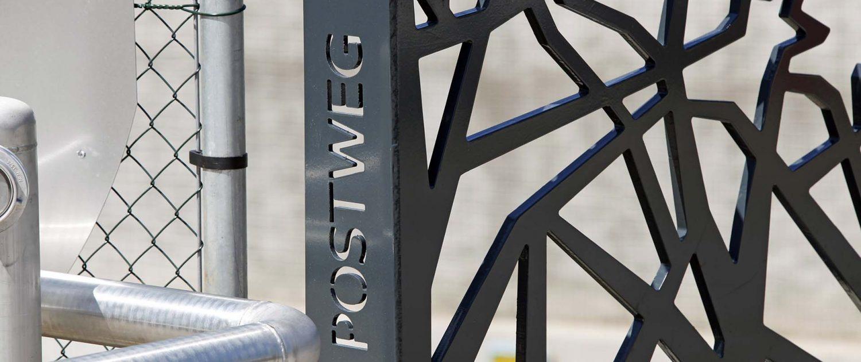 detail van overkluizing Postweg Soesterberg N23, ontwerp door ipv Delft