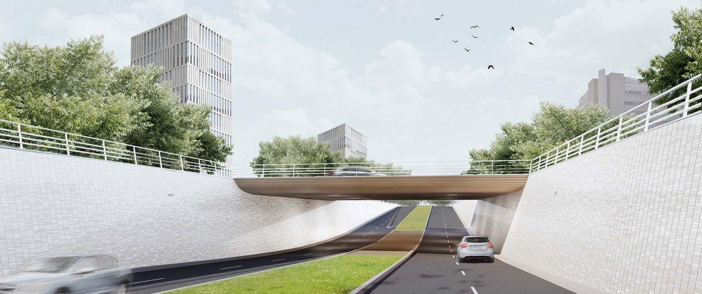 onderdoorgang Bio Science Park Leiden, ontwerp door ipv Delft