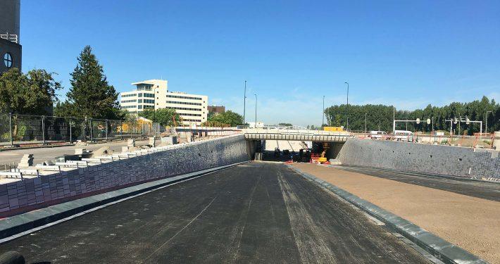 wegonderdoorgang tunnelontwerp groenstrook stedelijke infrastructuur Leiden