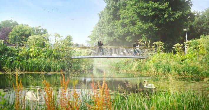 vervangen Parkbruggen Den Bosch, brugontwerp door ipv Delf