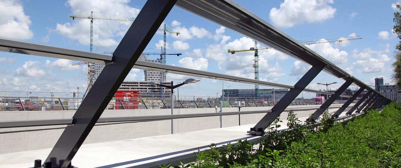 detail hekwerk Spaarndammertunnel Amsterdam