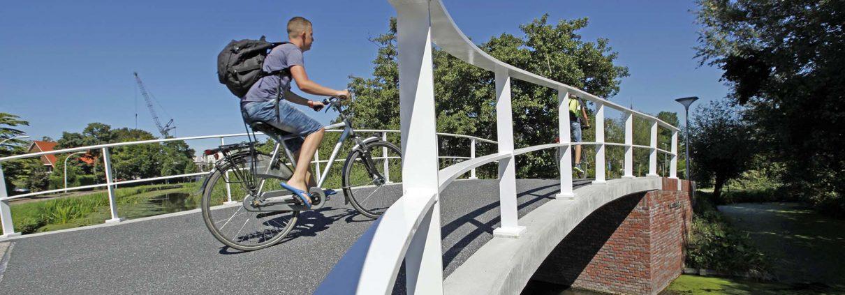 nieuwe situatie Kluisheulbrug Maasland, brug na renovatie, verkeersbrug door ipv Delft