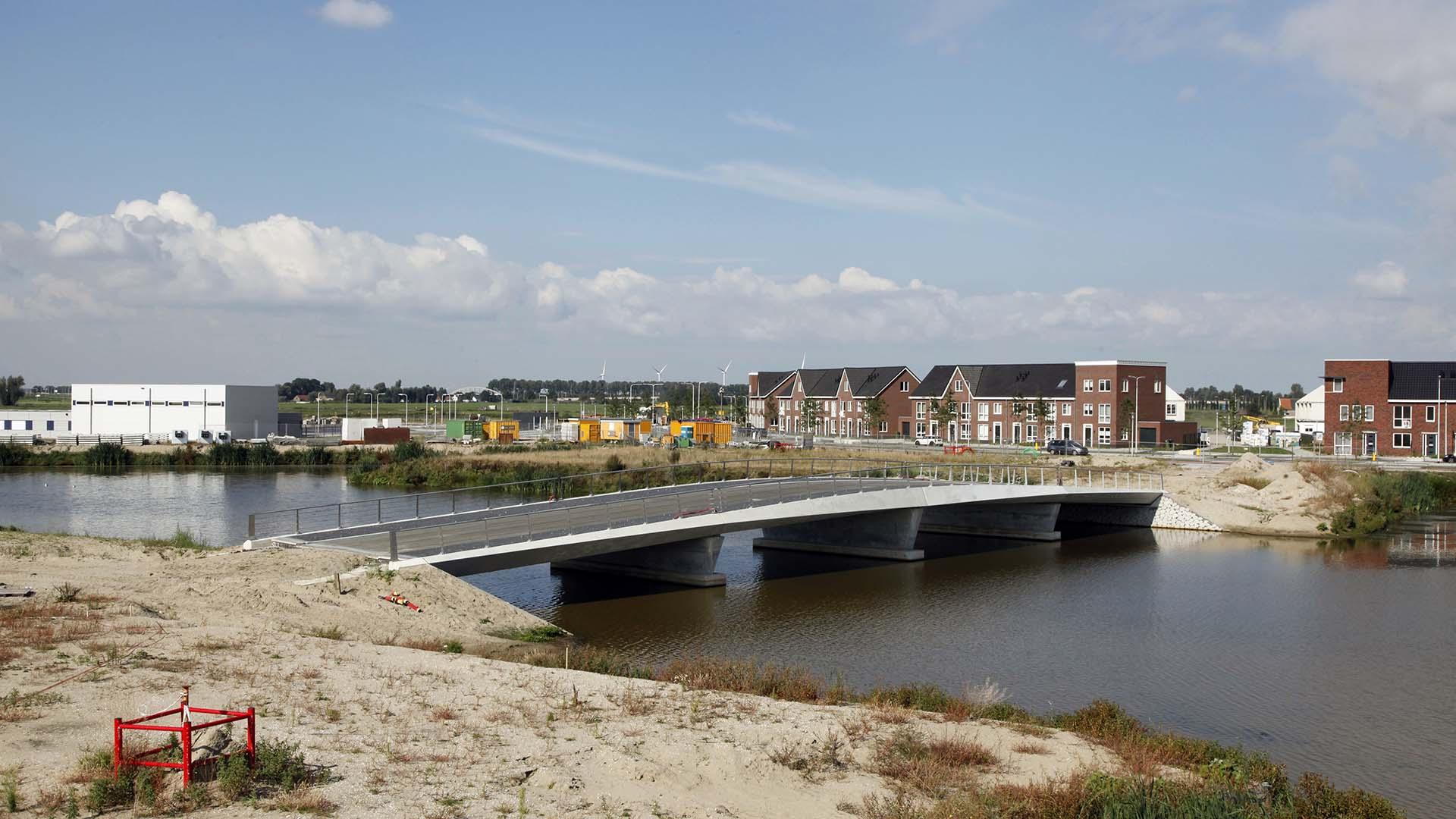 bouw van bruggen, brugontwerp van bruggen Westergouw Gouda door ipv Delft