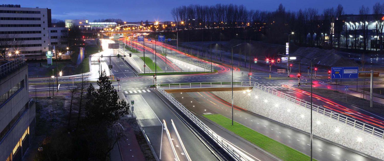 Kruising en Tunnel Bio Science Park Leiden ipvDelft
