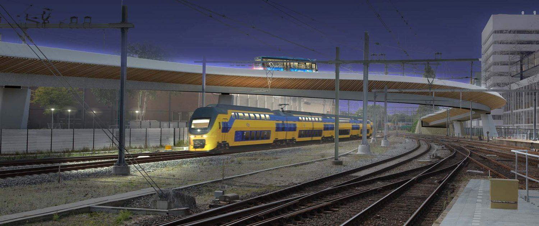 rijbaanverlichting busbrug brugconstructie brugontwikkeling inventief