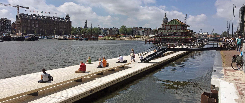 drijvende steiger Amsterdam Jetty Oosterdok