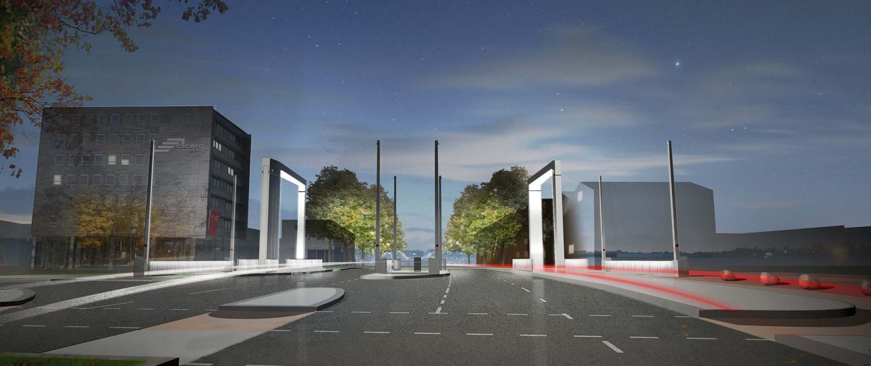 brugontwerp beweegbare brug stadsboulevard stedelijke infrastructuur