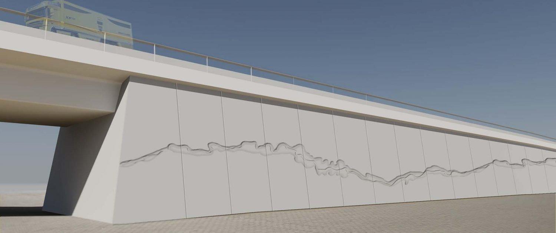 tender OoijenWansum havenrbug gravure betonwand ipv Delft