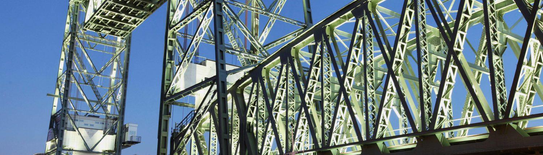Lichtontwerp voor ijzeren brug De Hef Rotterdam