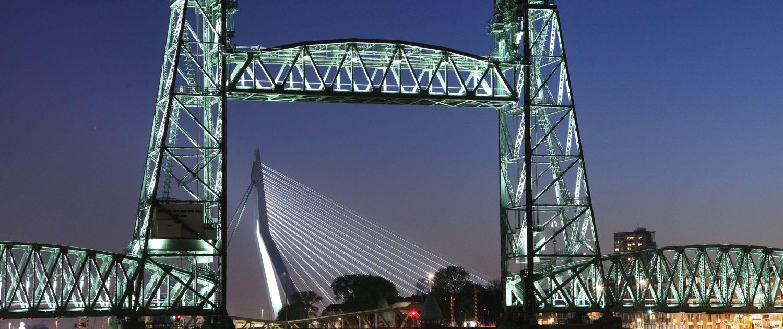 Objectverlichting spoorbrug de Hef Rotterdam ipvDelft