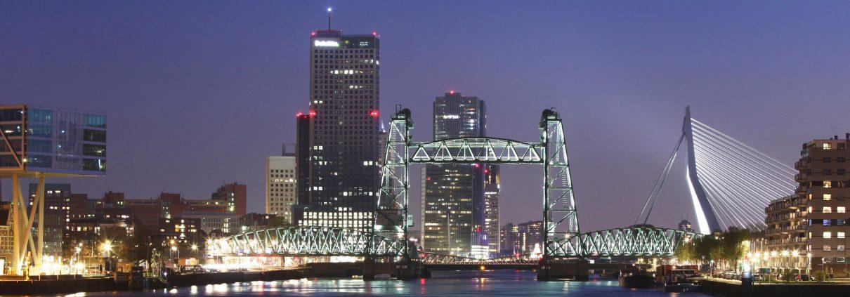 Lichtarchitectuur Hefbrug Rotterdam ipvDelft