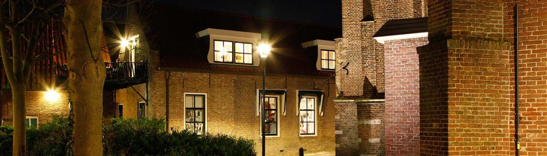 verlichting Kerkstraat Strijen, lichtarchitectuur door ipv Delft