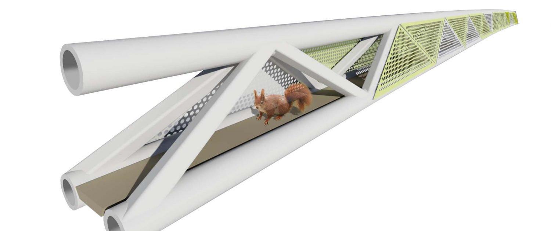 visualisatie eekhoonpassage Den Haag, ontwerp ipvDelft