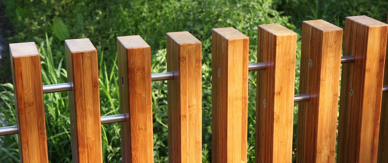 houten hekwerk van Bamboe hout, detail van balustrade