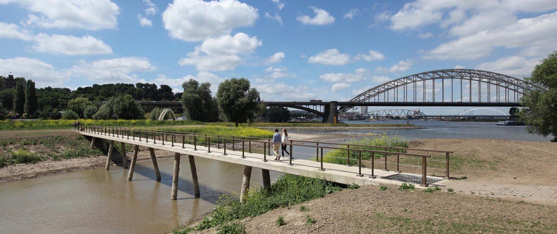 brug Stadswaard Nijmegen, fiets en voetgangersbrug brugontwerp ipvDelft