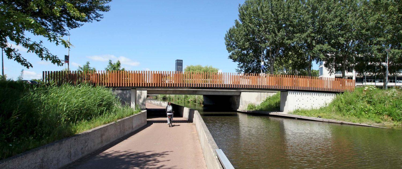 voetgangersbrug Leeuwarden, betonbrug, brugontwerp