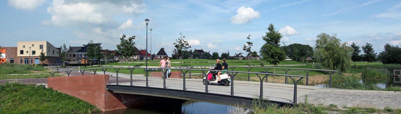 verkeersbrug, woonwijk, brugontwerp, ipvdelft
