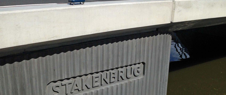 antraciet betonbrug, Stakenbrug Den Hoorn, verkeersbrug