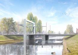 brugontwerp, verkeersbrug, beweegbare brug, Emmeloord,ontwerp
