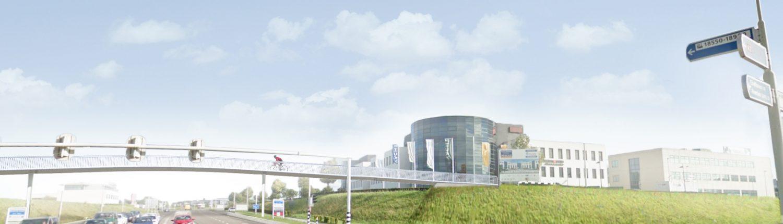 brug snelfietsroute Sittard Maastricht, Europalaan, ontwerp door ipvDelft