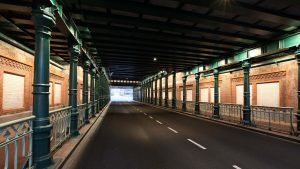 verlichting spoorpassages Haarlem, onderdoorgang spoor, lichtontwerp door IPV Delft