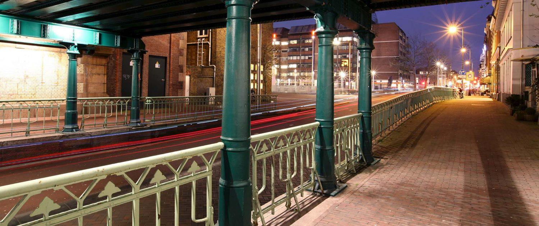 aanlichten onderdoorgang spoorweg Haarlem, lichtdesign ipv Delft