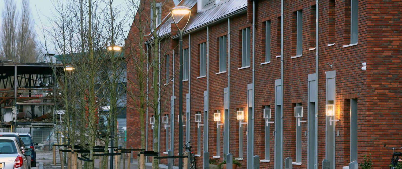 lichtarchitectuur Schoemakerplantage Delft, Omego lichtarmatuur