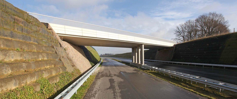 verkeersbrug over buitenring Parkstad Limburg, brugontwerp door ipvDelft