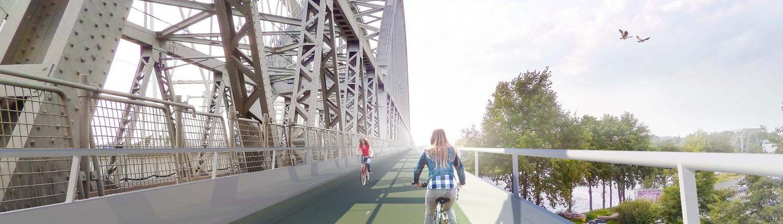 Demkaspoorbrug Amsterdam-Rijnkanaal, schetsontwerp brugontwerp door ipvDelft