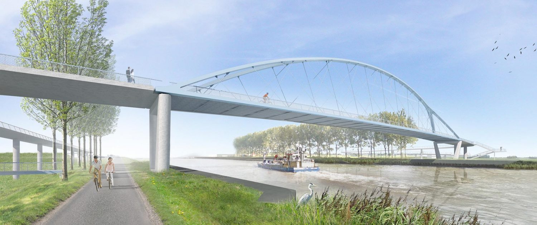 stalen boogbrug over Amsterdam Rijnkanaal ontwerp project