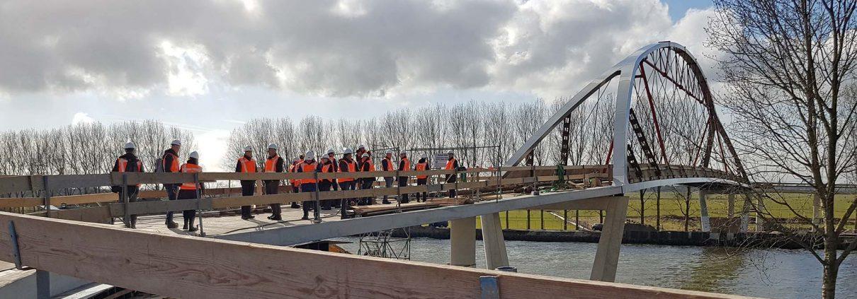fietsbrug Nigtevecht plaatsing ipv Delft