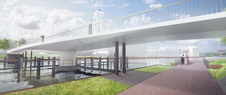 vanaf kant ontwerp draaibrug katwijk ipv Delft