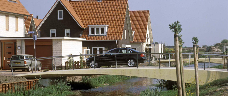 bruggen Rietlanden, Pijnacker, verkeersbrug over het water
