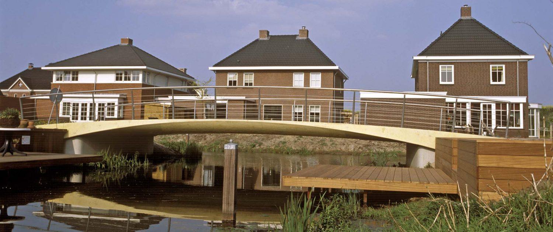bruggen-met houten stijger-Rietlanden, Pijnacker