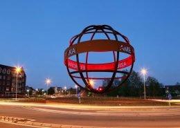 verlichting wereldbol rotonde ipv Delft