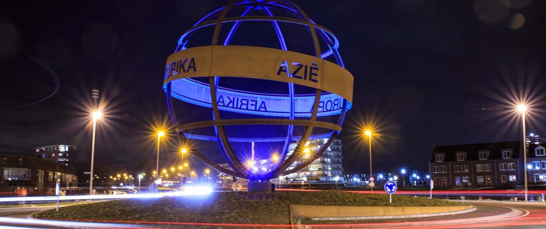 wereld bol avond lichtadvies objectverlichting ipv Delft