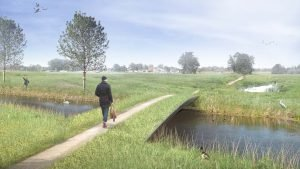 Groene brug 3D begroeide composietbrug ontwerp ipv Delft