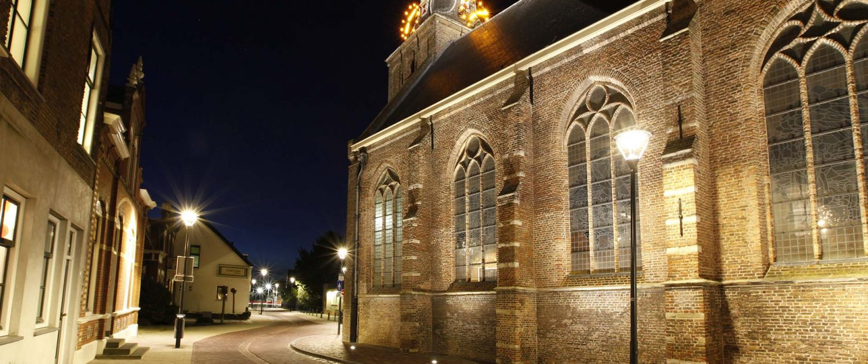 aanlichting kerk Strijen objectverlichting ipv Delft