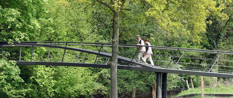 Geuldal maastricht stalen voetgangersbrug ontwerp ipv Delft