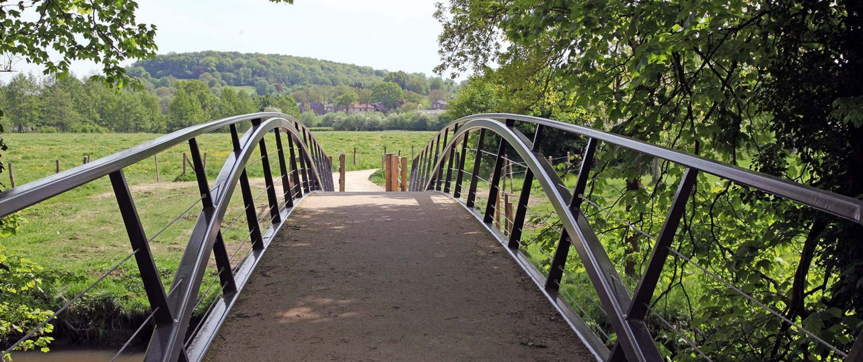 stalen voetgangersbrug Heerlijkheid Geuldal ontwerp ipv Delft