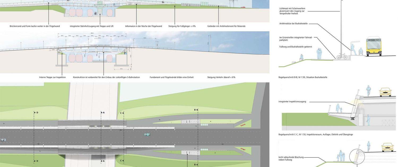 Tempelhof Berlijn tender technische tekeningen vierendeelliggerbrug ipvDelft