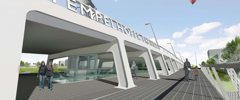 tender Tempelhof Berlijn voetgangersdek ontwerp ipv Delft