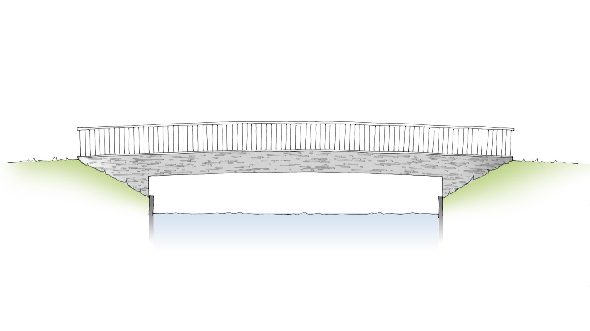 betonnen verkeersbrug De Herven Den Bosch ontwerp ipv Delft