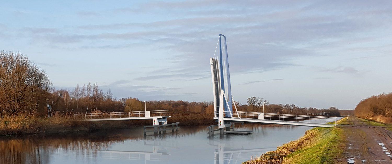 Enkeersbrug geopend visualisatie photoshop eindbeeld ontwerp ipv Delft