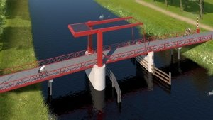 beweegbare brug Schateiland Almere