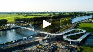 videolink filmpje spectaculaire fietsbrug Nigtevecht