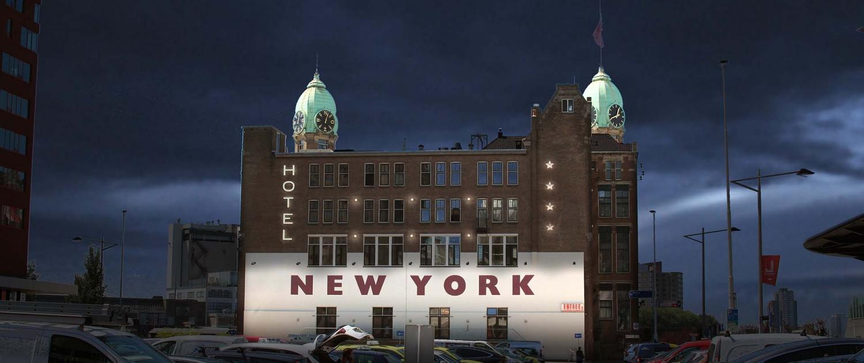 lichtarchitectuur lichtontwerp Hotel New York te Rotterdam