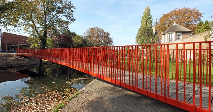 voetgangersbrug Lijnbaan stadsgracht Vianen